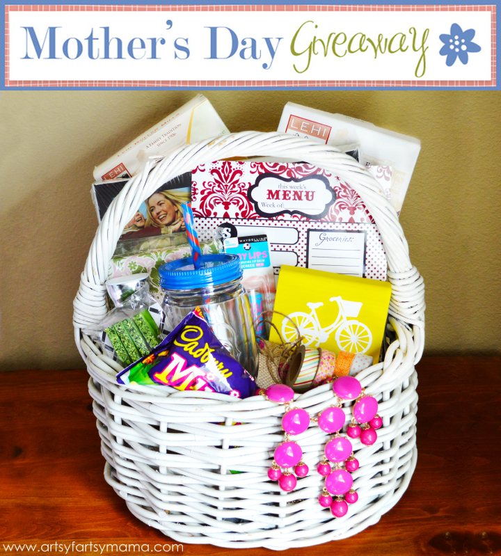 Mother's Day Wish Basket Giveaway at artsyfartsymama.com #MothersDay #giveaway