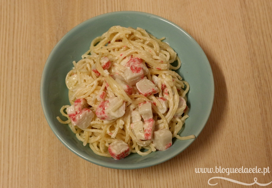esparguete com delícias do mar + receitas+ blogue português de casal + ela e ele + ele e ela + massa com frutos do mar