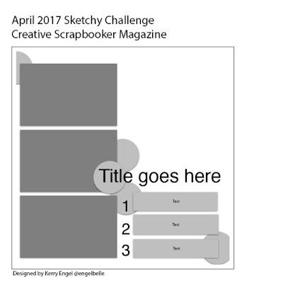 @csmscrapbooker @kdgowdy #creativescrapbookermagazine #sketch #sketchychallenge