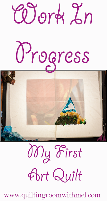 art quilt progress