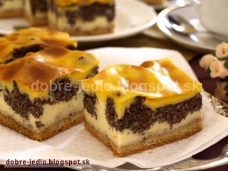 Tvarohovo-makový koláč - recepty