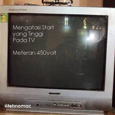 Mengatasi Meteran Listrik 450volt njeglek Saat Awal menghidupkan TV PC