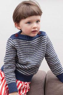tricot-marinière-enfant-point-texturé