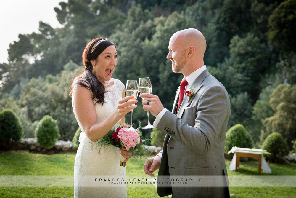 Prosecco wedding toast