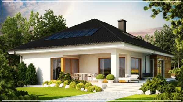 model 3D desain rumah sederhana di kampung