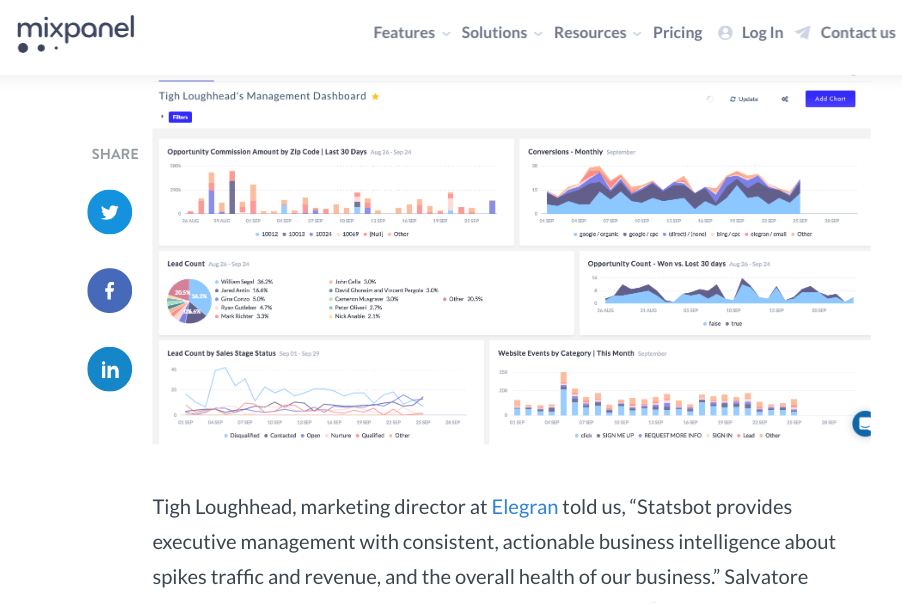 Tigh Loughhead on the MixPanel blog talking about Statsbot Analytics in Slack