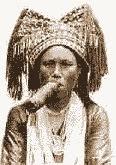 Аборигенша курит  исторя табакокурения