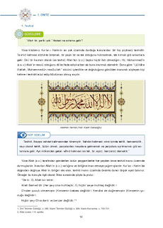 8. Sınıf Kuranı Kerim Ders Kitabı Cevapları Dikey Yayınları Sayfa 12