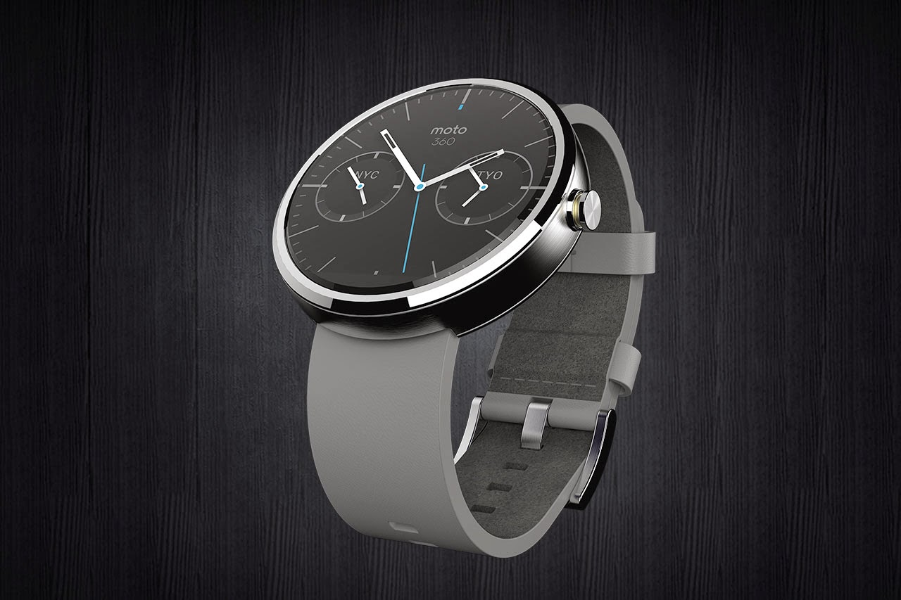 Moto 360 Watch white