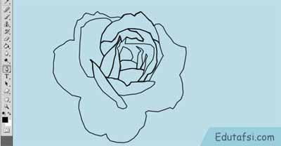 Membuat gambar bunga mawar di photoshop