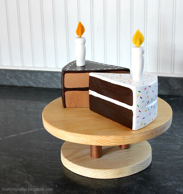 diy wood cake slices