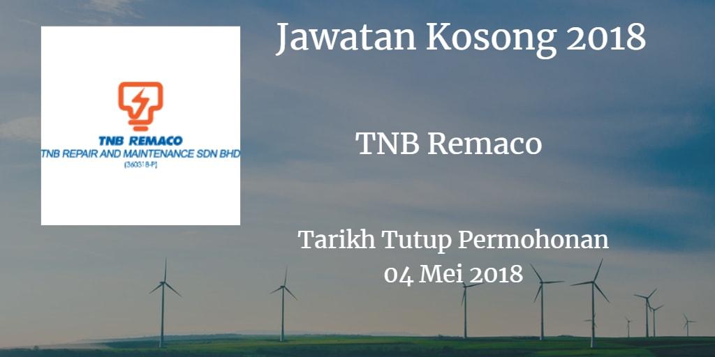 Jawatan Kosong TNB Remaco 04 Mei 2018