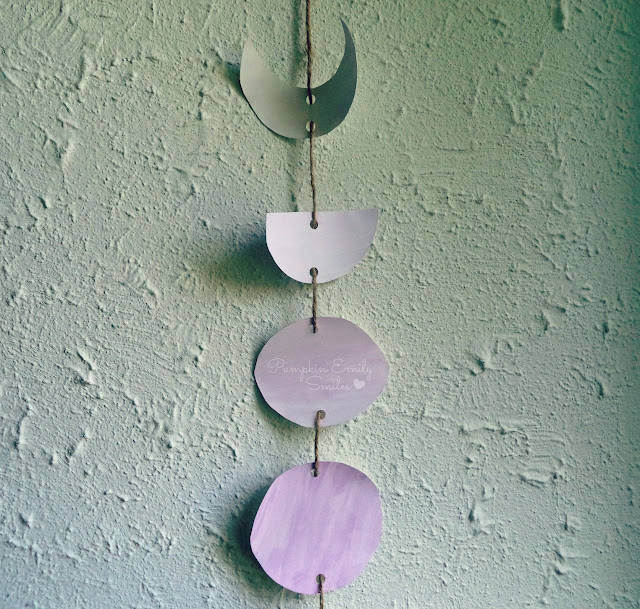 Ombre Moon Phases DIY Wall Decor