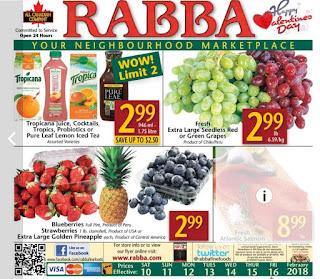 Rabba Fine Foods Flyer February 10 - 16, 2018