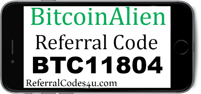 BitcoinAlien Sign Up bonus, Referral Code, Promo code and Download app.