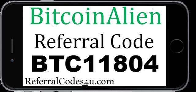 BitcoinAlien Sign Up bonus, Referral Code, Promo code and Download app.