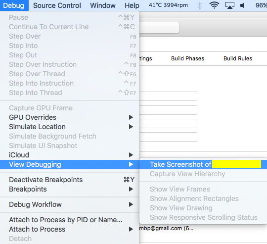Study Swift: Xcode Tip: Screenshot for iOS/tvOS device/simulator