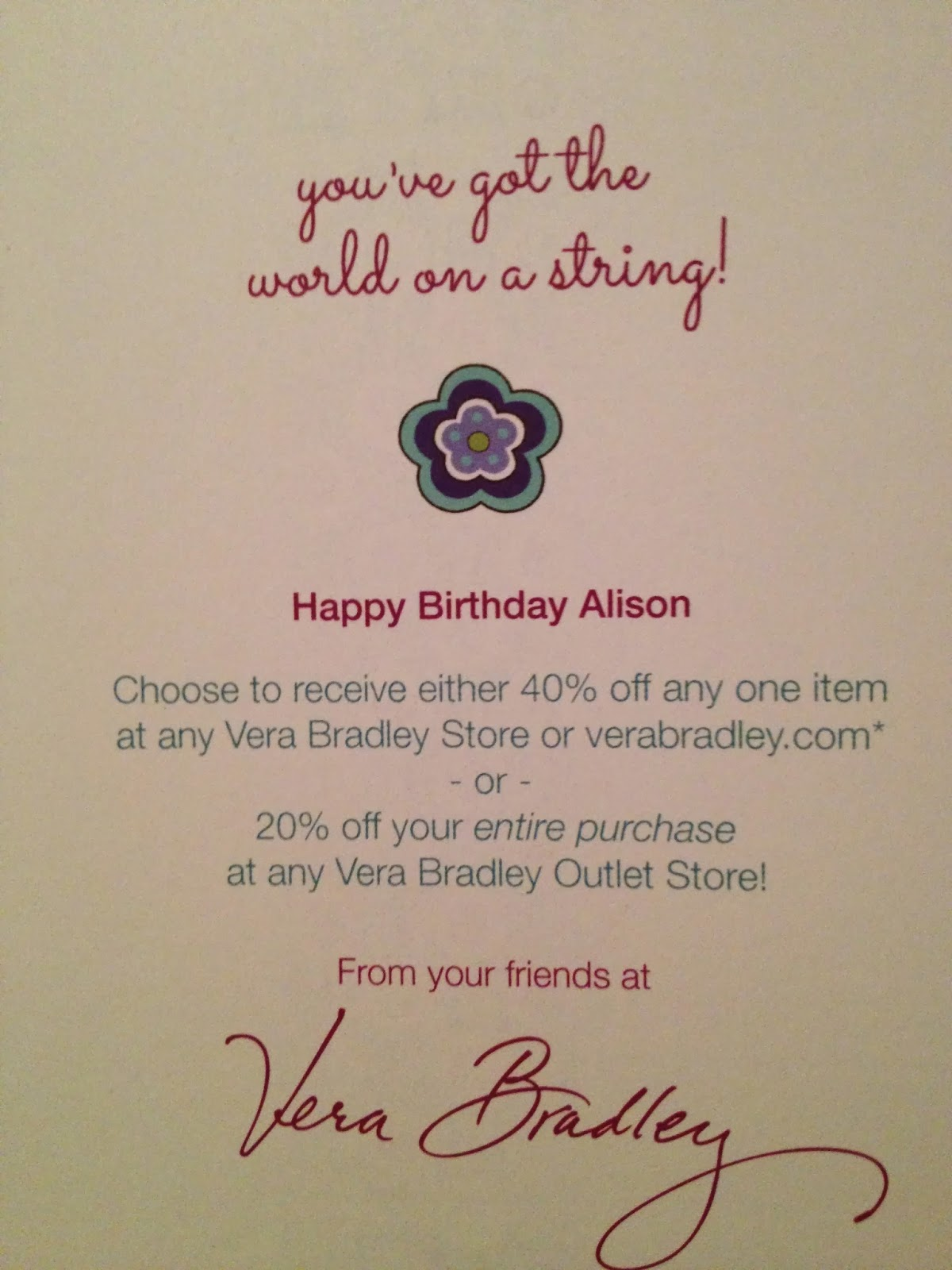 vera bradley january birthday coupon code