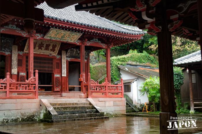 Cour intérieure et daiyuhoden, temple Sôfuku-ji, Nagasaki