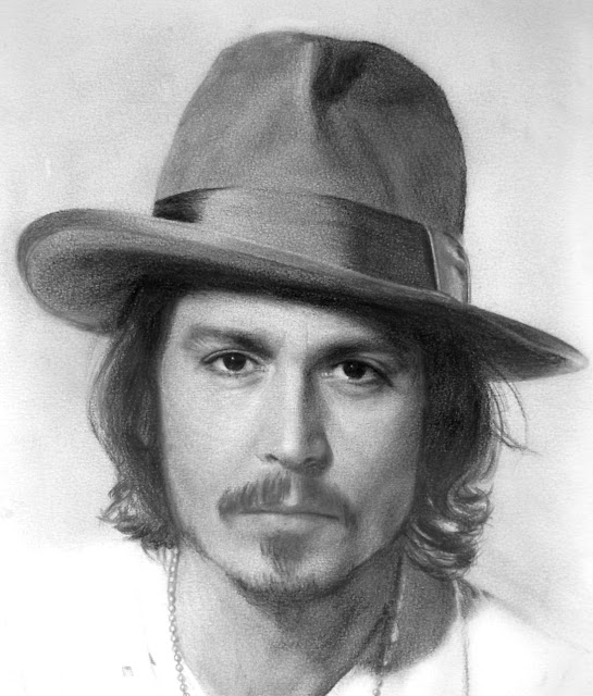 Johnny+Deep+desenho+realista