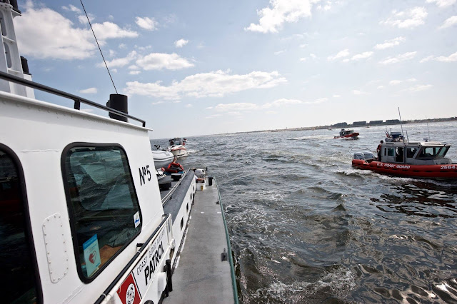 Launch 5 and Coast Guard RHIB