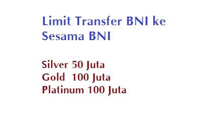 Limit transfer sesama bni