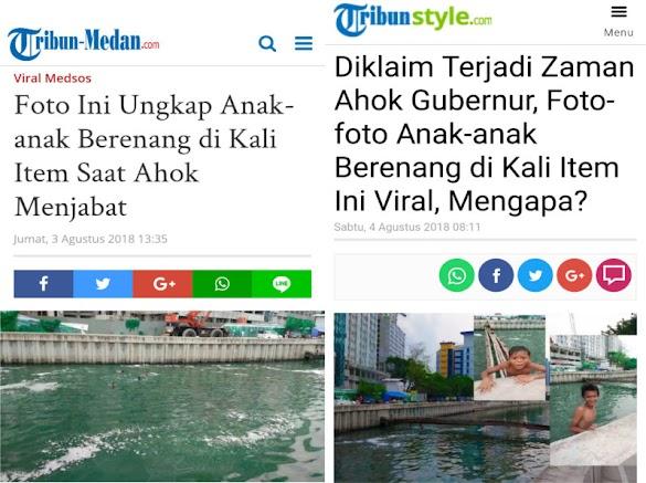 Foto Kali Item Berair Hijau Viral, Warga: Pasti Editan, Dari Dulu Airnya Hitam