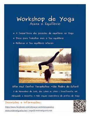 Cartaz Workshop de Yoga - Asana e equilibrio