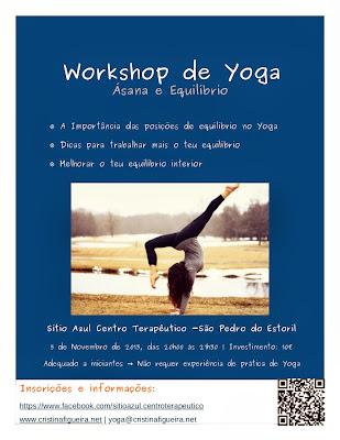 Cartaz Workshop de Yoga - Asana e equilibrio