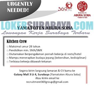 Lowongan Kerja di YAMATOTEN ABURA SOBA Surabaya Terbaru Mei 2019