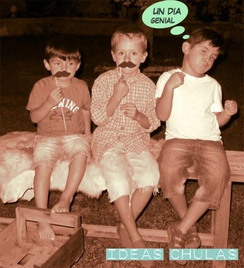 Photocall niños con mustache