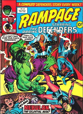 Rampage #34, the Defenders vs Nebulon