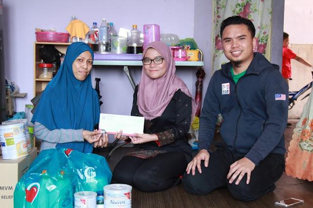Antara Penerima Bantuan Salam dari Muslim Volunteer Malaysia