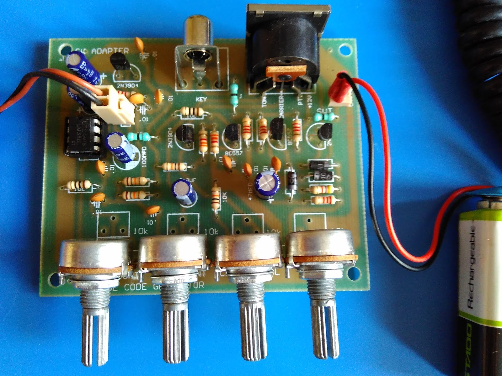 Cw Tone Generator For Bitx And Other Ssb Transcievers Schematic
