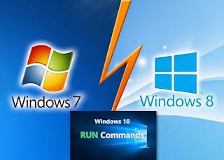 قائمة أوامر Run لجميع اصدارات نظام windows