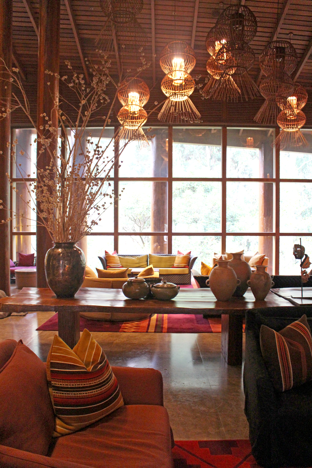 Lobby at Tambo Del Inka, A Luxury Collection Resort & Spa, Valle Sagrado, Peru - travel blog