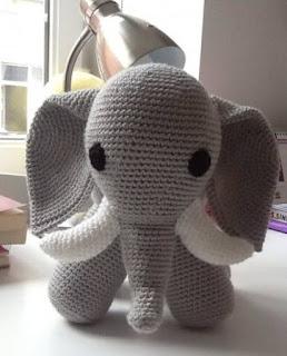 Elefante amigurumi patrón gratis - Patrones gratis | 320x258