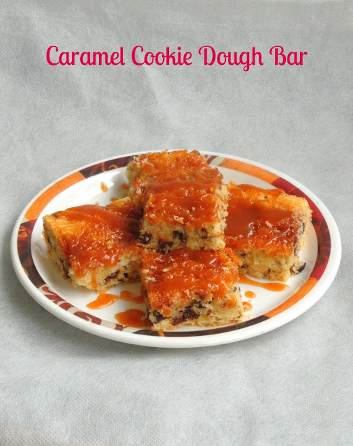 Caramel Cookie Bar, Caramel cookies dough bar