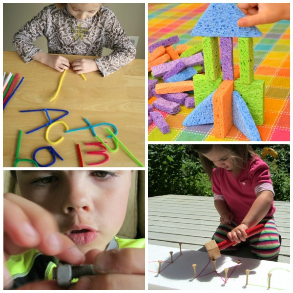 FINE MOTOR ACTIVITIES FOR KIDS (35 simple ideas!) #finemotoractivitiesforkids