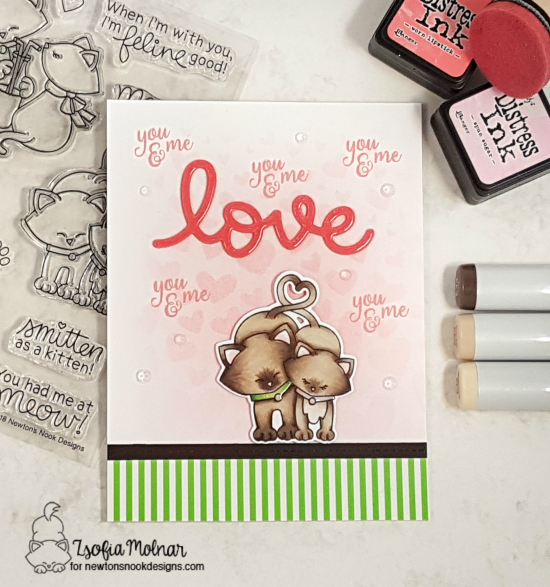 You & Me by Zsofia features Tumbling Hearts, Newton's Sweetheart, and Darling Duos by Newton's Nook Designs; #newtonsnook