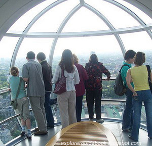 Inside London Eye