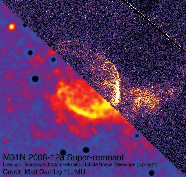 First evidence of gigantic remains from star explosions