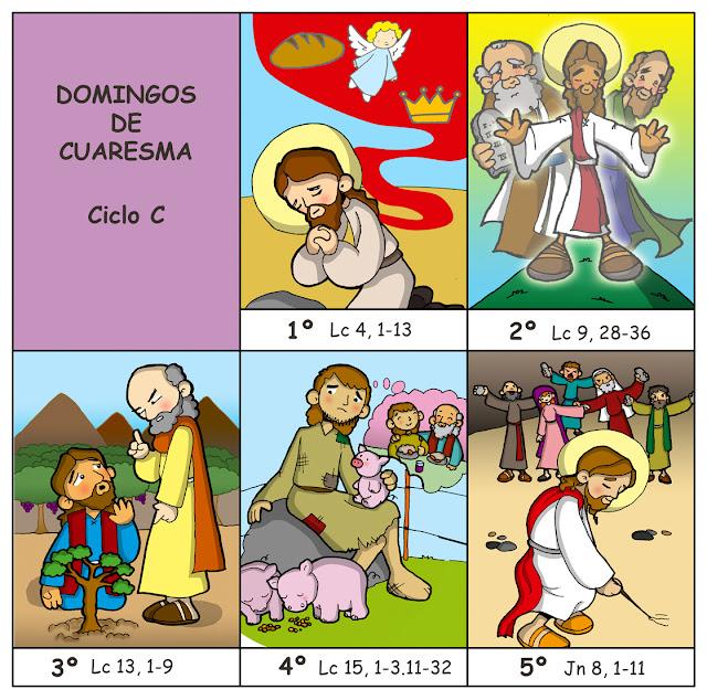 Parroquia La Inmaculada: Cómic para imprimir y colorear: Domingos de ...