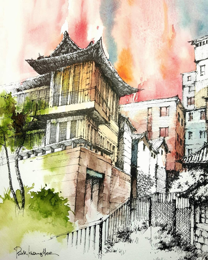 09-Park-Kwang-Hee-Architectural-Sketches-Interior-Exterior-Old-and-New-www-designstack-co