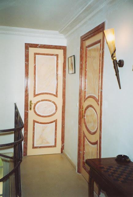 patine, marbres, décors, cage d'escalier
