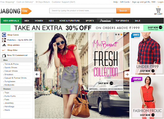 Jabong.com Shopping Review/Experience
