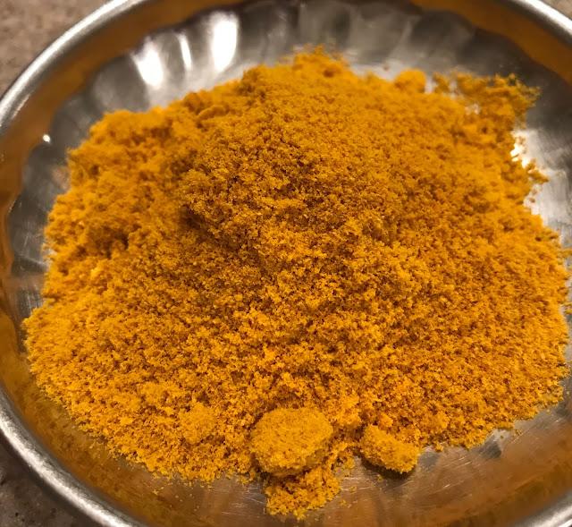 Organic Turmeric powder- from homegrown rhizomes
