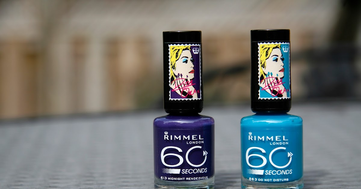 Fun Size Beauty Rita Ora X Rimmel 60 Seconds Nail Polish In 863 Do Not Disturb And 613 Midnight