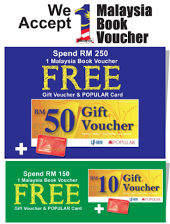 Baucar Buku 1Malaysia Book Voucher Promotion by Popular Bookstore