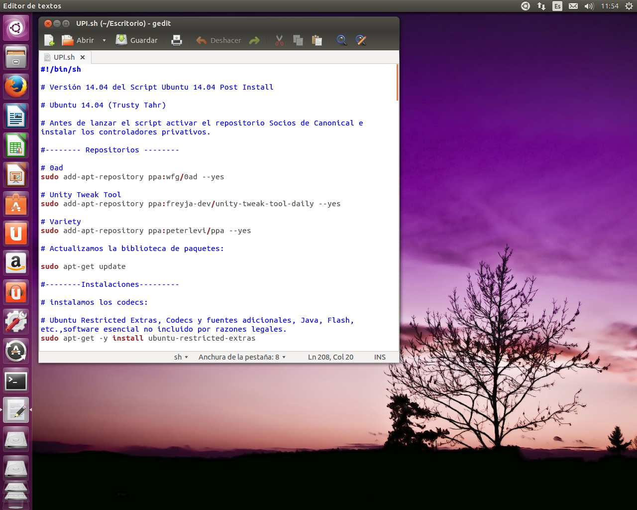 Script Ubuntu 14.04 Post Install
